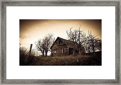 Vintage Farm House Framed Print by Steve McKinzie
