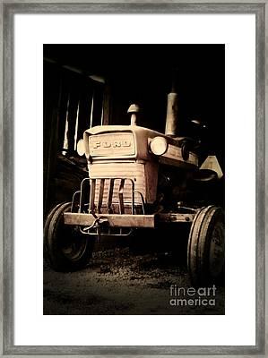 Vintage Ford Farm Tractor Framed Print by Scott D Van Osdol