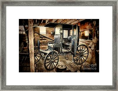 Vintage Horse Drawn Carriage  Framed Print by Judy Palkimas