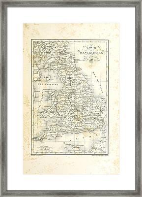 Vintage Map Framed Print