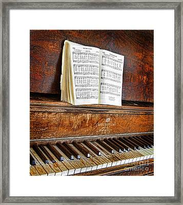 Vintage Piano Framed Print by Jill Battaglia