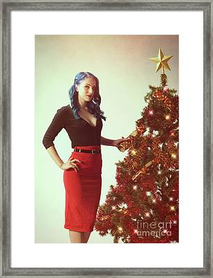 Vintage Pin Up Series Framed Print by Amanda Elwell