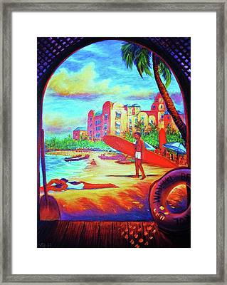 Vintage Royal Hawaiian Framed Print