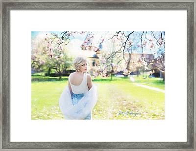 Vintage Val Magnolias Framed Print