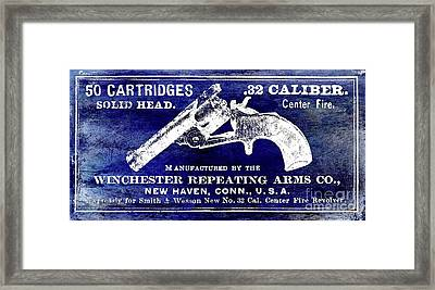 Vintage Winchester Sign Framed Print by Jon Neidert