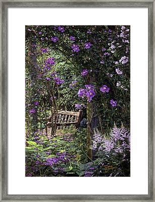 Violet Garden Respite Framed Print