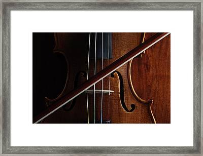 Violin Framed Print by Nichola Evans