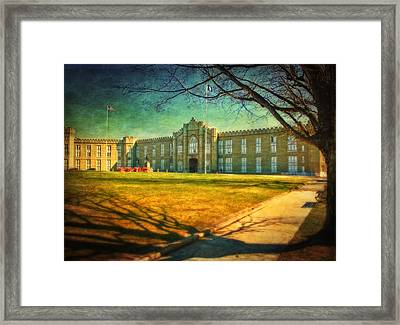Virginia Military Institute  Framed Print by Kathy Jennings