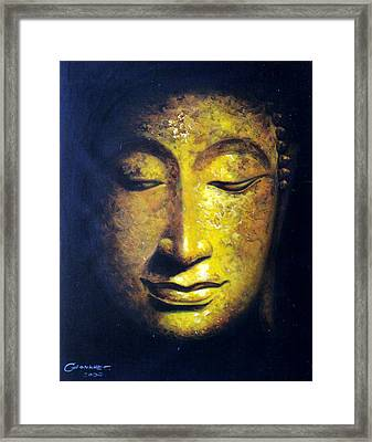 Framed Print featuring the painting Virtue by Chonkhet Phanwichien