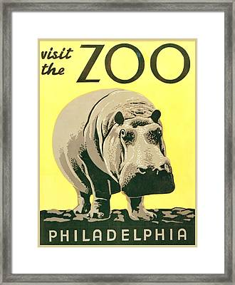 Visit The Zoo Framed Print