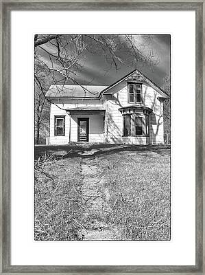 Visiting The Old Homestead Framed Print