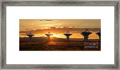 Vla At Sunset Framed Print by Matt Tilghman
