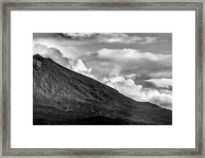Framed Print featuring the photograph Volcano by Hayato Matsumoto