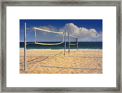Volleyball Net Framed Print by Boyan Dimitrov