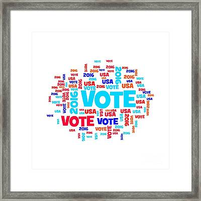 Vote Usa 2016 Framed Print