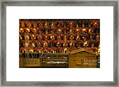 Votive Candles Framed Print by John Greim
