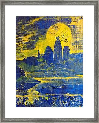 Vrindavan Spiritual Sky Framed Print