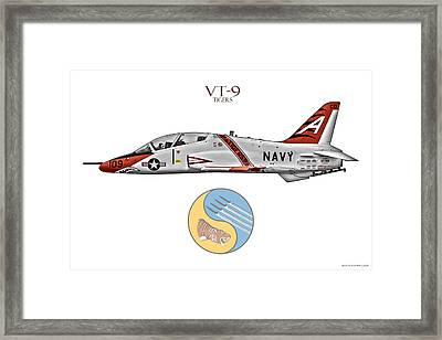 Vt-9 Tigers Framed Print by Clay Greunke