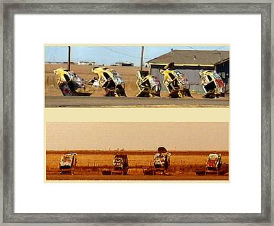 Vw Slug Bug Ranch Framed Print