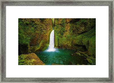 Wahclella Falls Columbia River Gorge Framed Print