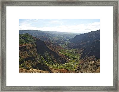 Waimea Canyon Framed Print by Michael Peychich