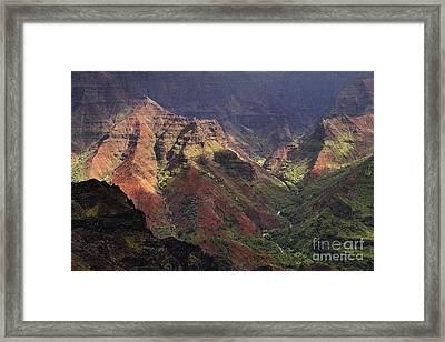 Waimea Canyon Framed Print by Neil Doren