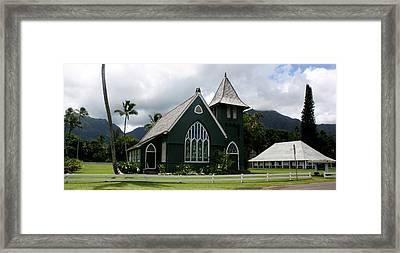 Wai'oli Hui'ia Church Framed Print by Annie Babineau