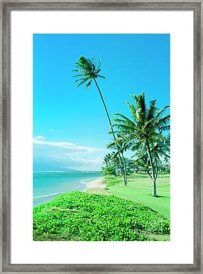 Waipuilani Beach Kihei Maui Hawaii Framed Print