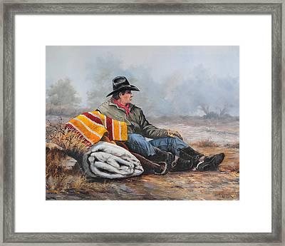 Waitin' On The Boss Framed Print by Bob Hallmark