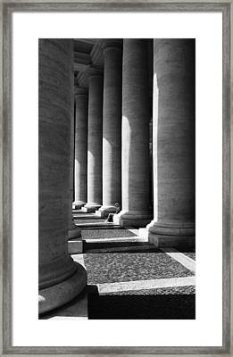 Framed Print featuring the digital art Waiting At St Peters by Julian Perry