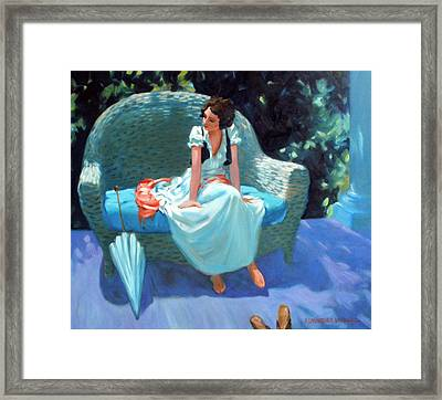 Waiting For The Artist Framed Print by Kevin Lawrence Leveque