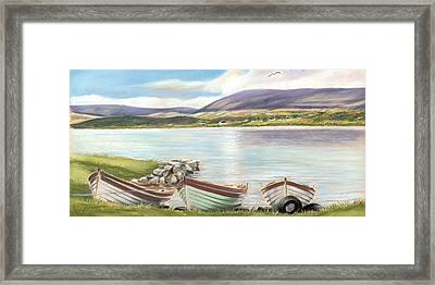 Waiting For The Mayfly Framed Print by Vanda Luddy