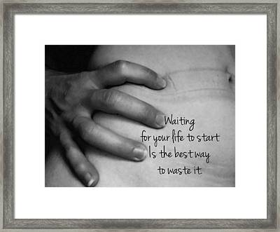 Waiting Framed Print by Sara Young