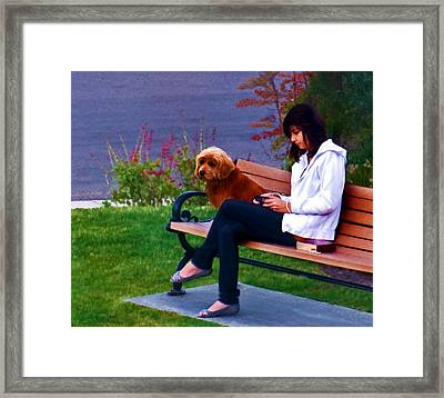 Waiting  Framed Print by Thanh Thuy Nguyen