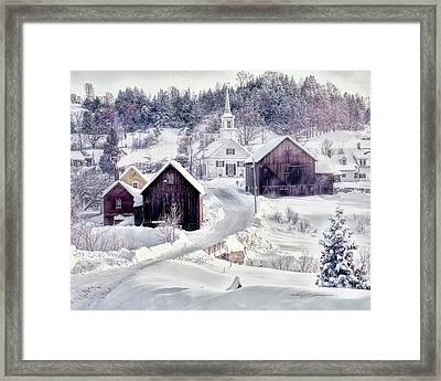 Waits River, Vt Framed Print by George Robinson