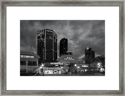Wake Up Bw Tower Place 100 Buckhead Atlanta Art Framed Print