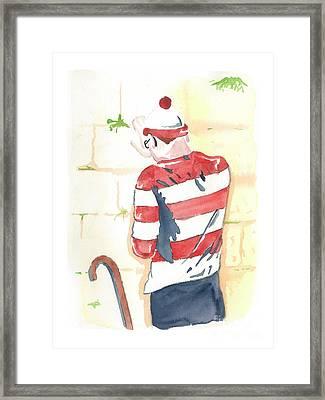 Waldo Finds Himself Framed Print