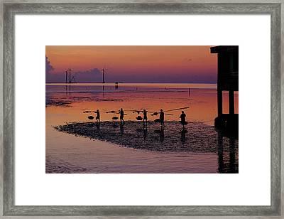 Walking On The Sea Framed Print by Okan YILMAZ