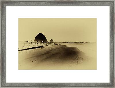 Walking The Beach Framed Print by David Patterson
