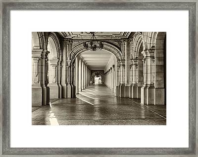 Walkway Framed Print by Joseph S Giacalone