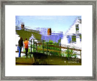 Walkway Framed Print