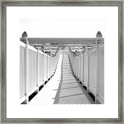 Walkway To Beach Framed Print
