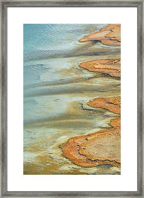 Wall Pool In Yellowstone National Park Framed Print by Bruce Gourley