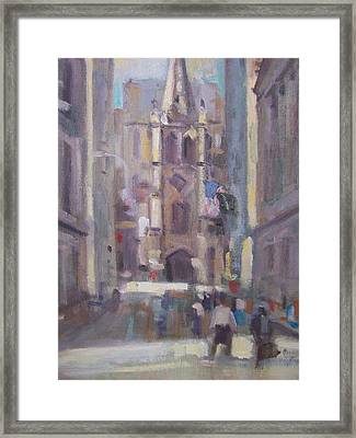 Wall St Framed Print