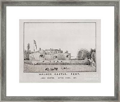 Walmer Castle Kent Framed Print