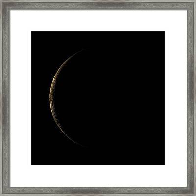 Waning Crescent Moon Framed Print