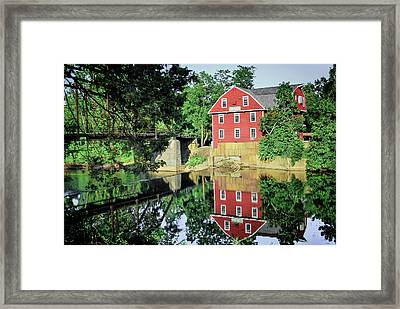 War Eagle Mill And Bridge - Arkansas Framed Print by Gregory Ballos