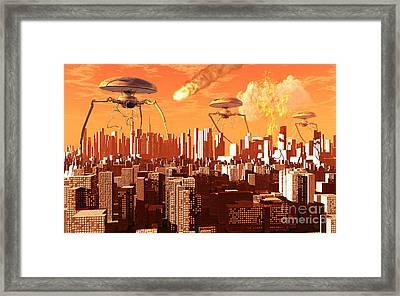 War Of The Worlds Framed Print by Mark Stevenson