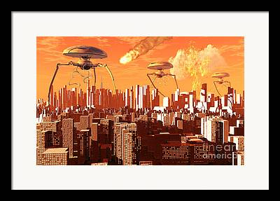 Collision Of Worlds Framed Prints