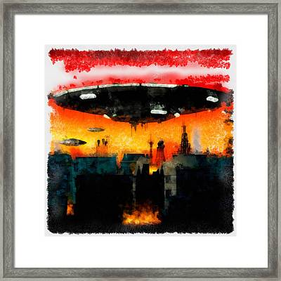 War Of The Worlds Framed Print by Esoterica Art Agency
